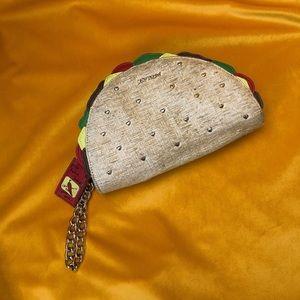 Betsey Johnson Taco Clutch Wristlet Bag